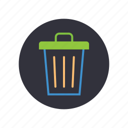 biodegradable, gogreen, recycle, trash can icon