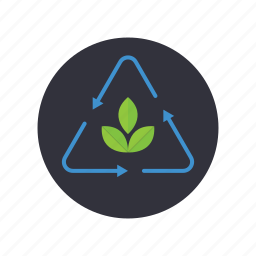 gogreen, leaves, plant, recycle, reuse, tree icon