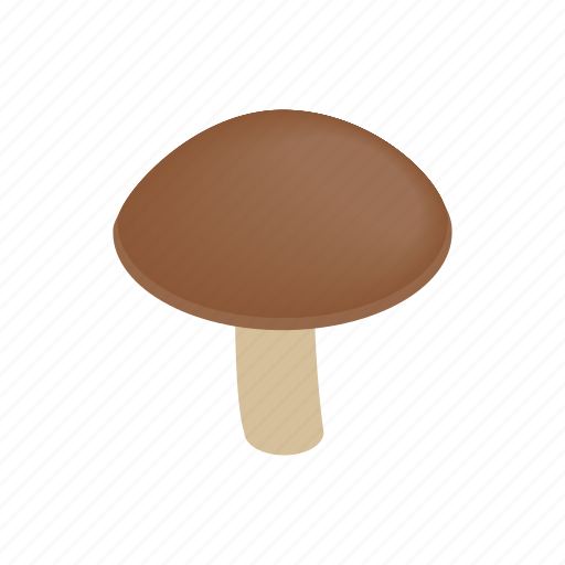 food, fungus, healthy, ingredient, isometric, mushroom, nature icon