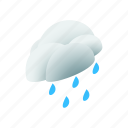 cloud, isometric, nature, rain, sky, water, weather icon