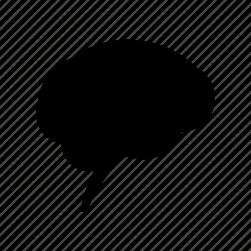 brain, idea, learn, think, through icon