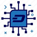 crypto, currency, dash, dashcoin, ic, money, network icon