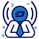 crypto, currency, dash, dashcoin, manager, money icon
