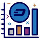 crypto, currency, dash, dashcoin, graph, money, progress icon
