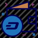 bag, crypto, currency, dash, dashcoin, money, wallet