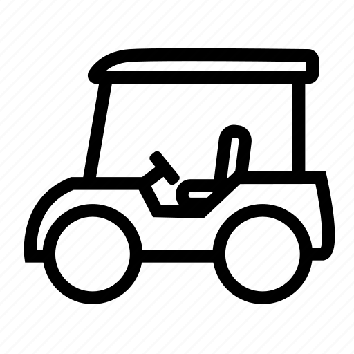 car, cart, electric, golf icon