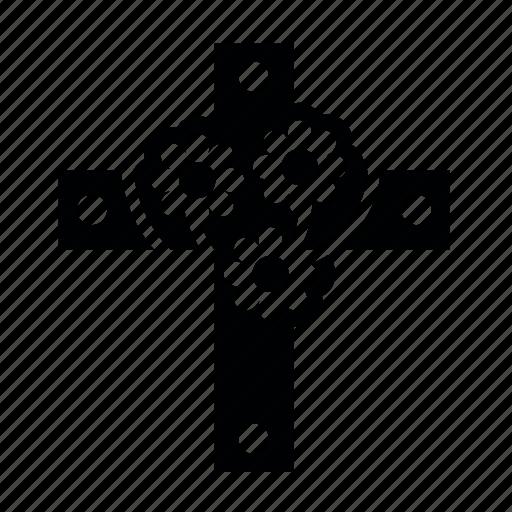 cross, flower, friday, good icon