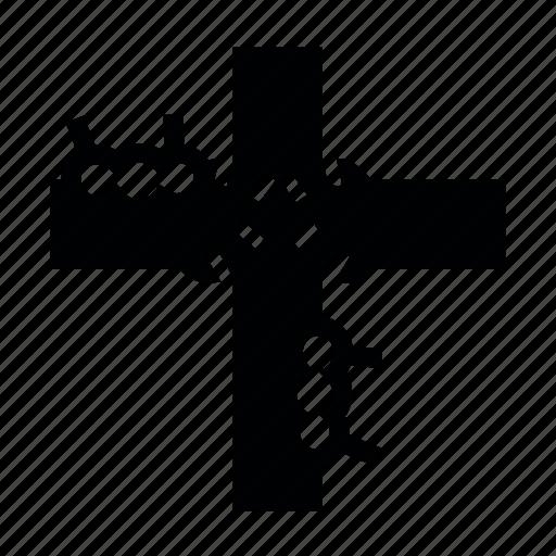 cross, friday, good, hand icon