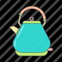 breakfast, electronic kettle, kettle, kitchen, kitchenware, tea, teapot icon
