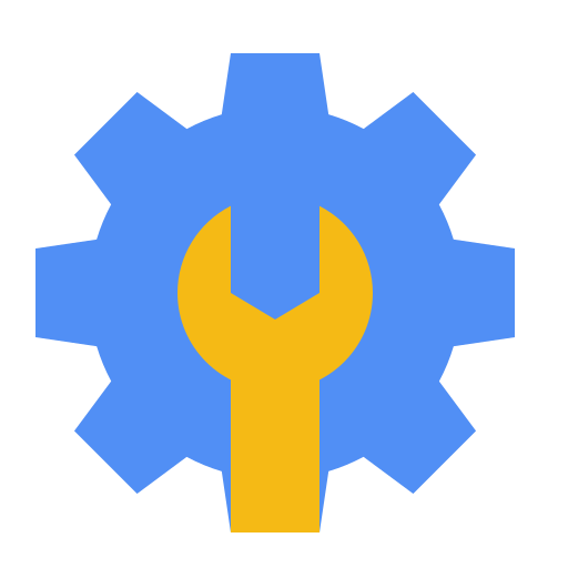 configure, google, optimization, repair, setting, support icon