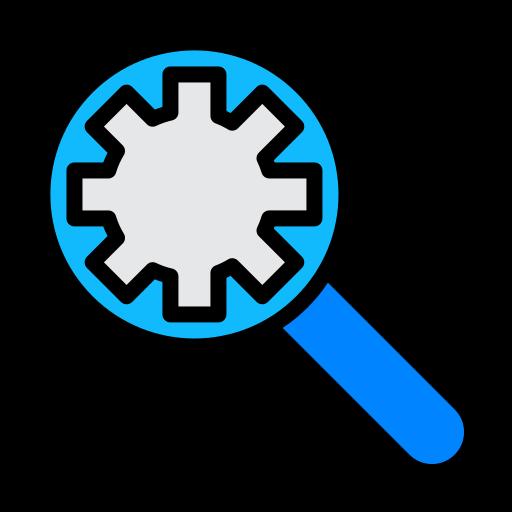 bug, configuration, find, optimization, search, setting icon