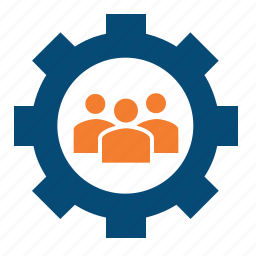 accountable, collaboration, control, department, group, implement, manage, management, people, personnel, profiling, resource, resources, settings, staff, team icon