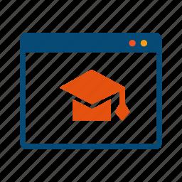 courses, distance, education, elearning, learning, online, seminar, training, webinar, workshop icon