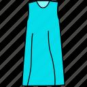 dress, female dress, gown icon, ladies dress, mature dress, maxi icon