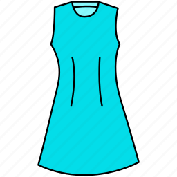 dress, female dress, gown icon, mature dress icon, maxi icon, trendy mature dress icon