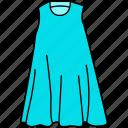 dress, female gown icon, gown icon, maxi icon