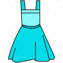 dress, frock, frock icon, gown, teen gown icon icon