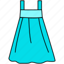 dress, frock, frock icon, gown, teen gown icon
