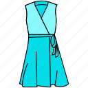 dress, female dress, gown, modern gown icon, stylish gown