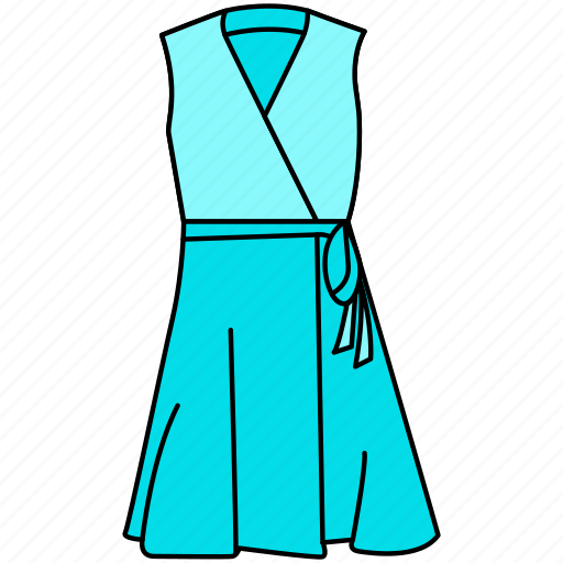 dress, female dress, gown, modern gown icon, stylish gown icon