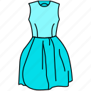 dress, fashion, frock, gown, gown icon, ladies, skirt