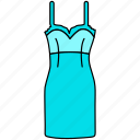 dress, frock, gown icon, hollywood gown, old gown style, skirt, trendy gown