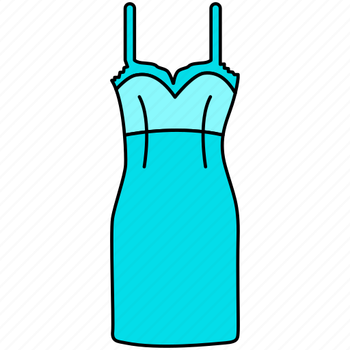dress, frock, gown icon, hollywood gown, old gown style, skirt, trendy gown icon