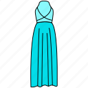 beautiful gown icon, dress, flat gown icon, gown, lady gown icon, sexy gown, trendy gown icon