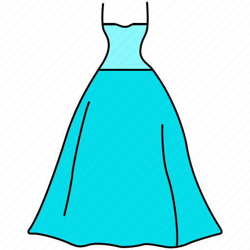 dress, fashion, female, frock, gown, ladies, mature icon