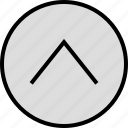 arrow, menu, nav, navigation, point, up icon