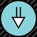 double, down, menu, nav, navigation icon