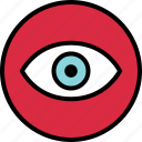 eye, look, menu, nav, navigation, views icon