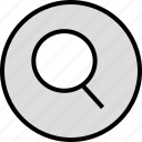 glass, magnigying, menu, nav, navigation, search icon