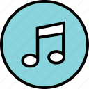 menu, music, nav, navigation, note, play icon