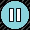 menu, nav, navigation, pause, stop icon