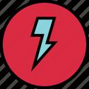lightning, menu, nav, navigation, power icon