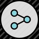 analytics, data, menu, nav, navigation, share icon