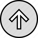 menu, nav, navigation, point, up, upload icon