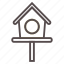 bird, birdhouse, garden, house, pet, spring, wood icon