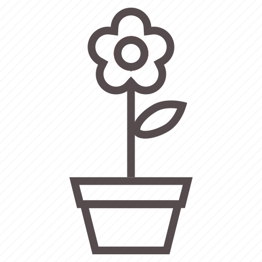 flower, garden, leaves, nature, plant, pot, spring icon