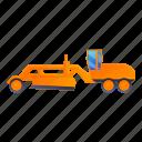 business, car, construction, grader, machine, technology