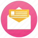 business document, cv, document in envelope, email, massage icon