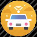 driverless van, satellite car, self driving transportation, self ruling vehicle, smart vehicle
