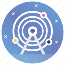 astronomy, planetary system, planets, solar system, space icon