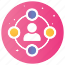 communication, community, connection, network, networking icon