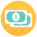cash, currency, dollars, finance, money icon