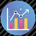 analytics, bar chart, business growth, graph, infographics