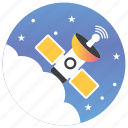 antenna, artificial satellite, satellite, satellite broadcasting, space antenna