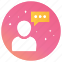 chat, conversation, messages, speech, talk, typing