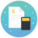 business document, business letter, contract, file, stamp paper icon